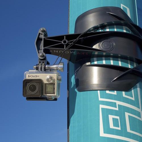 Selfie mode with a GoPro bucke